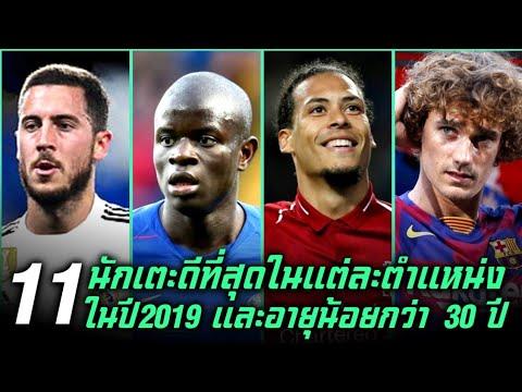 11 นักเตะดีที่สุดในแต่ละตำแหน่งประจำปี 2019 และมีอายุน้อยกว่า 30 ปี ● บารมี ฟุตบอล