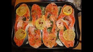 Как приготовить рыбу в духовке? Легко! А главное очень вкусно!