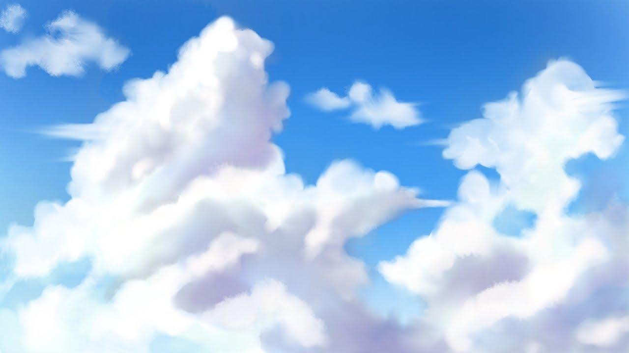 Tutorial Cara Menggambar Background Awan Anime Di Ibis Paint X Ep 21 Youtube