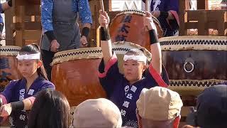 愛知県立 豊丘高校 和太鼓部の演奏
