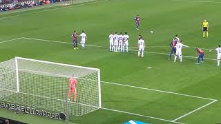 Barcellona Valladolid 4 1. Punizione messi ripresa in diretta