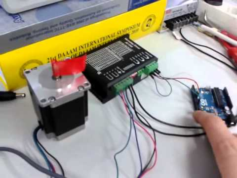High speed stepper motor nema 23 arduino youtube for Nema 17 stepper motors with rotary encoders