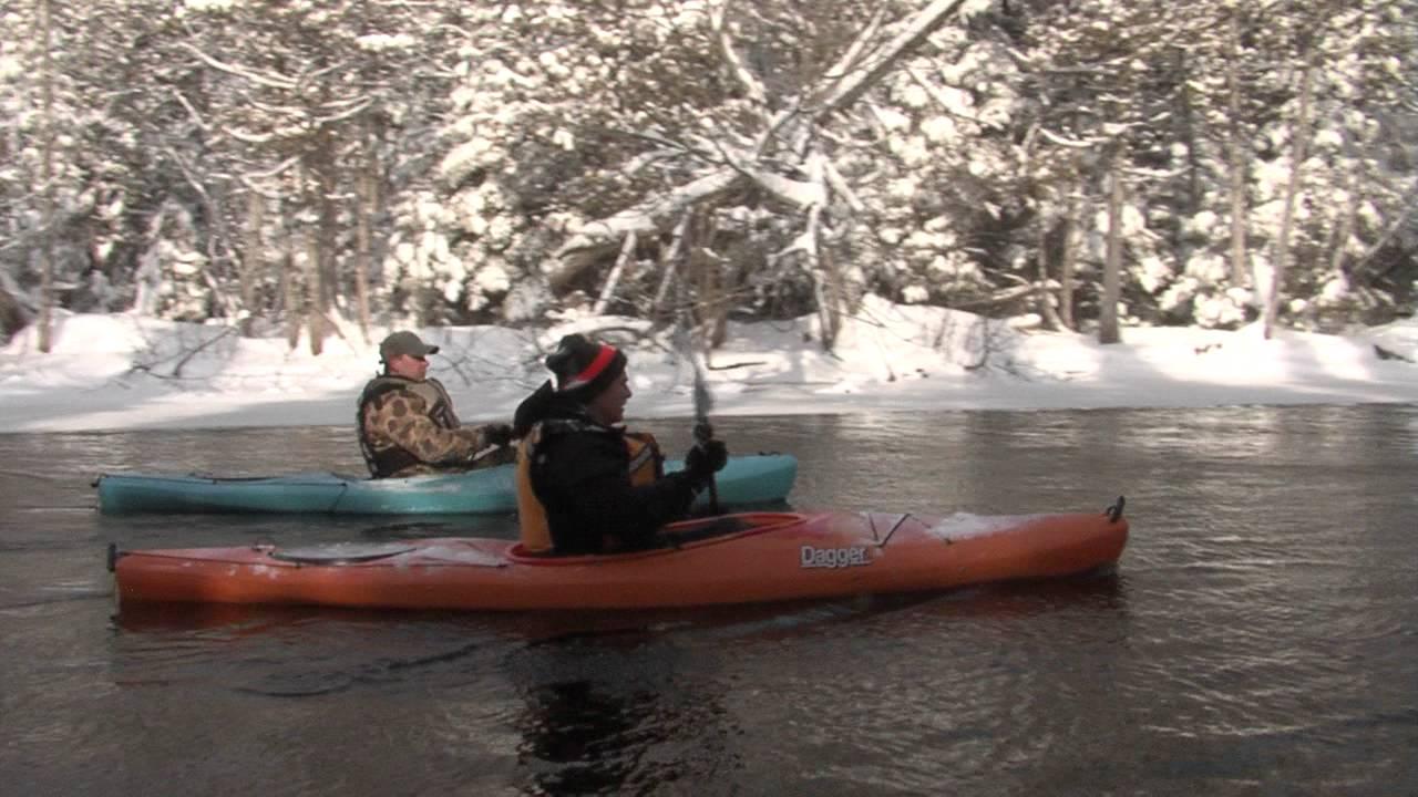 Great Getaways: Winter Kayaking - AuSable River, MI