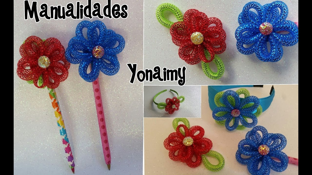 flores de cordon para decorar lapices o plumas diademas broches y demas youtube