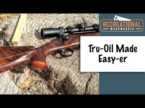 Finishing a Gun stock with Tru Oil Complete How To