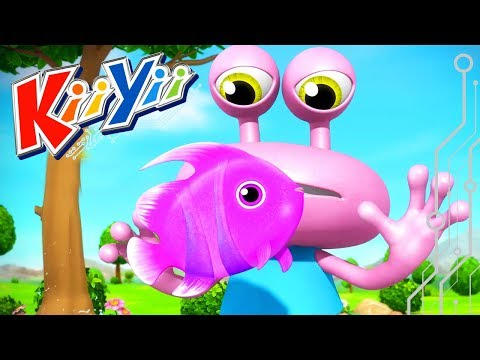 12345 Once I Caught A Fish Alive | Nursery Rhymes | By KiiYii!