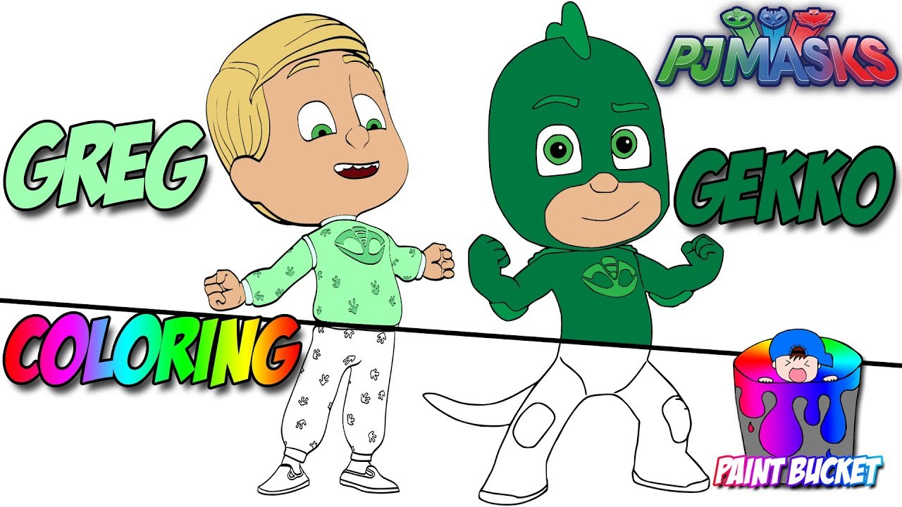 PJ Masks Greg Transforms into Gekko New Coloring Page - Disney ...