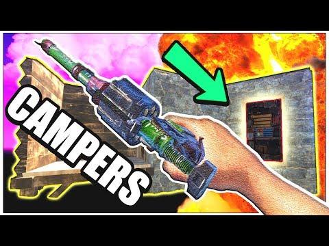 Raiding DOOR CAMPERS for PROFIT! - Killing Clans for GEAR - vanilla ( Rust Online Raids PvP Plays )