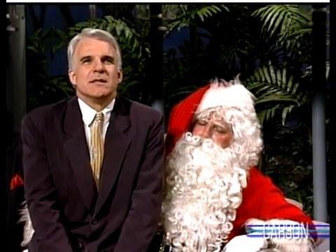 steve martin is mean to santa on johnny carsons tonight show 1988 - Steve Martin Christmas Movie