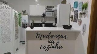 TROQUEI O ADESIVO DA COZINHA - CHEGOU O BALCÃO - RAQUEL TORRES - MORANDO SOZINHA