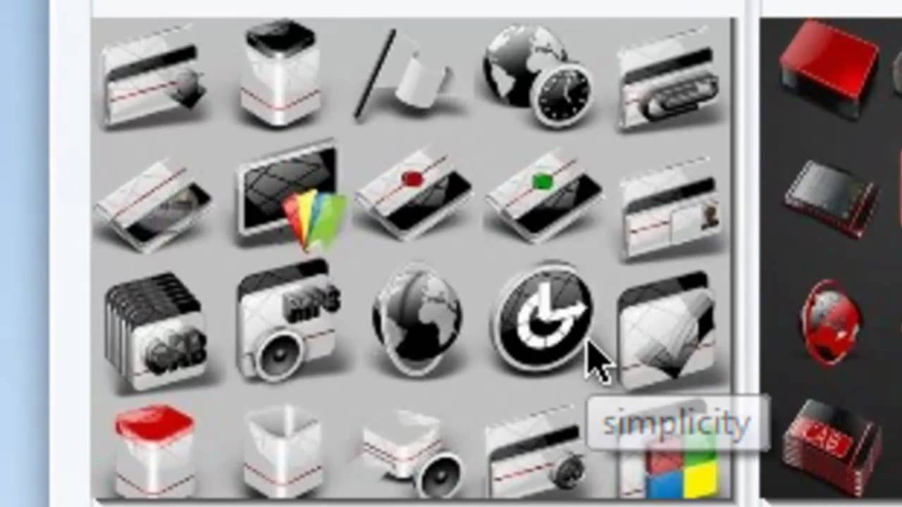 how to change desktops icons