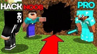 Minecraft Battle: NOOB vs PRO vs HACKER: SECRET ENTRANCE CHALLENGE / Minecraft Animation