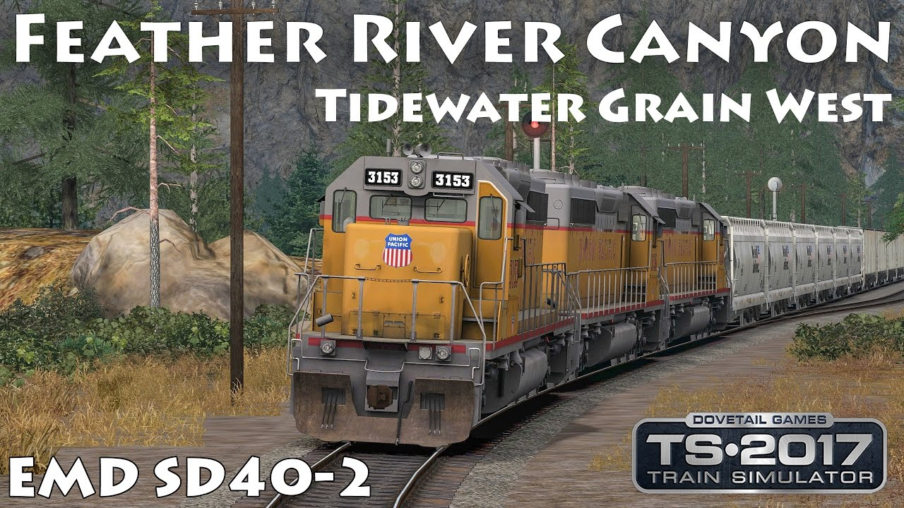 Feather River Canyon Union Pacific Symbol Tgw Emd Sd40 2 Train