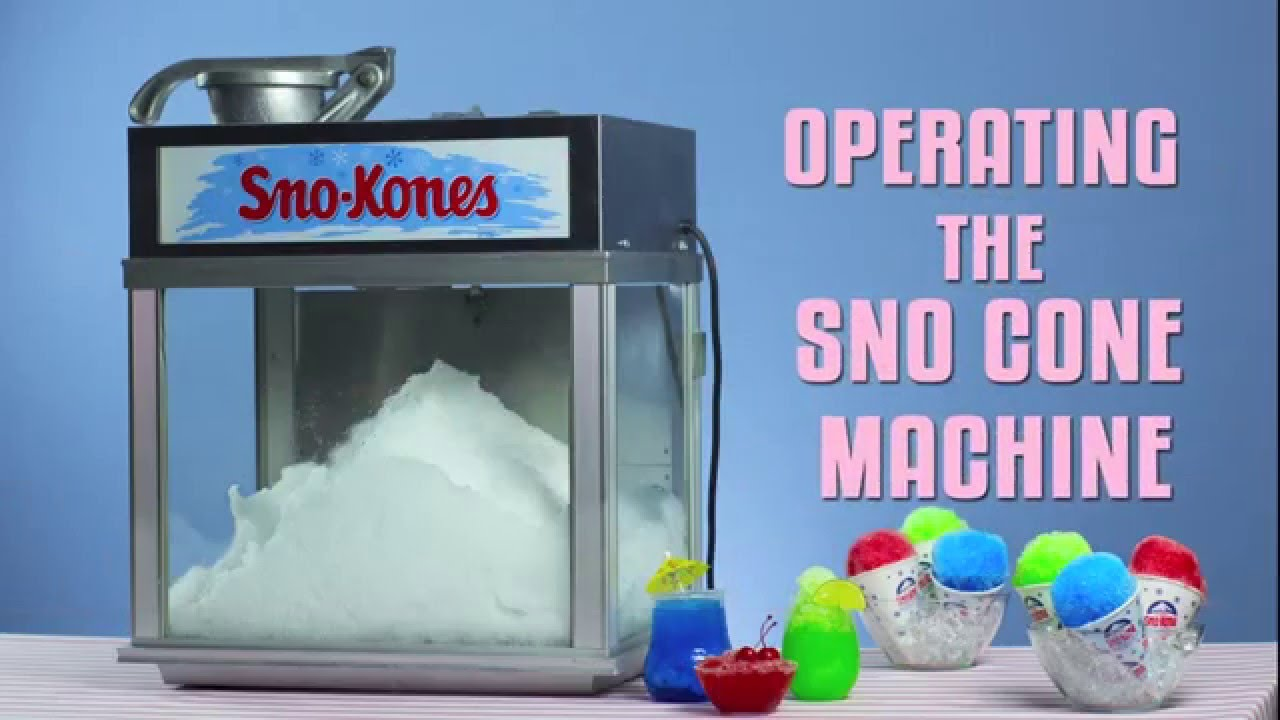 Operating The Sno Cone Machine   YouTube