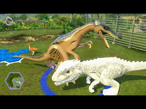 LEGO Jurassic World game 🎮 ALL dinosaurs demoed!