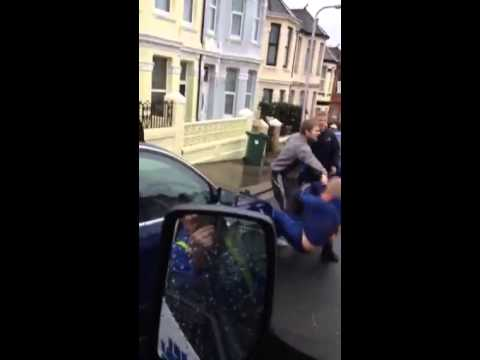 Youths fighting in Plymouth street uploaded to Facebook
