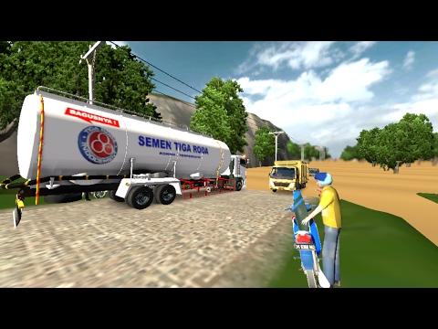 Ets 2 : Truck Angkutan bahan semen , nyaris mogok l Map Sumatra by SI