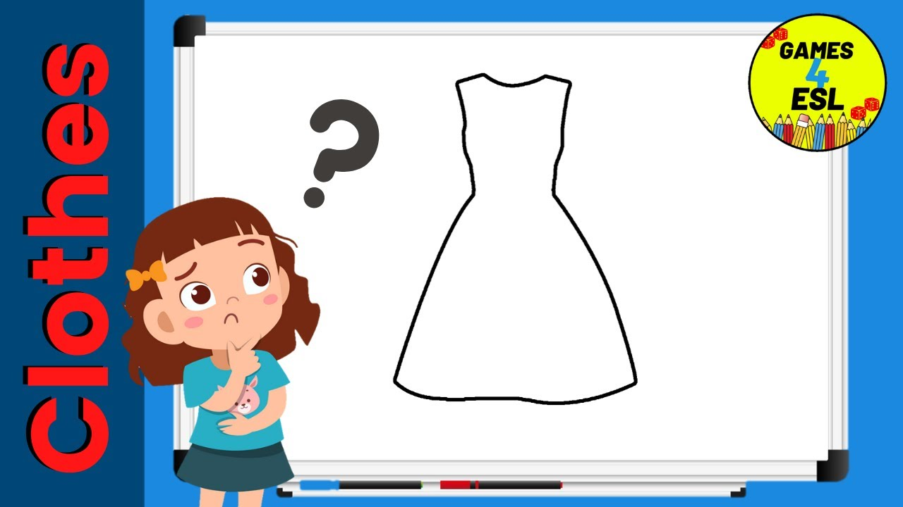 Clothes Vocabulary For ESL Students | Fun Guessing Game For Kids