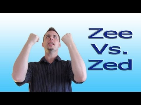Canadian Zed And American Zee Explained