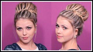 видео Плетение волос на средние волосы фото пошагово