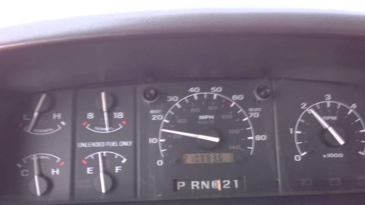 1994 Ford F 150 Speedo Youtube
