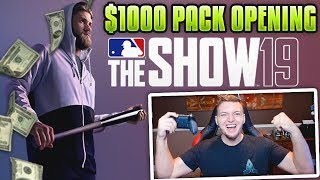 MLB THE SHOW 19 $1000 PACK OPENING *20+ DIAMONDS PULLED* *NOT CLICKLBAIT*