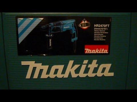Обзор перфоратора Makita HR2470FT с быстросъемным патроном для сверления