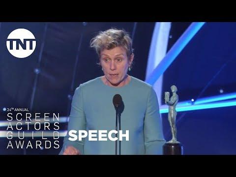 Frances McDormand: Acceptance Speech | 24th Annual SAG Awards | TNT