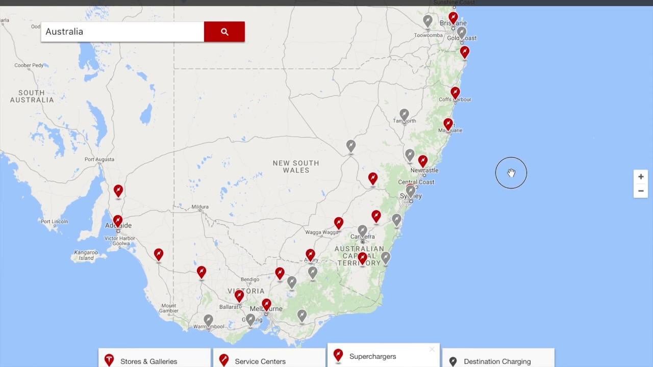 Tesla Supercharger Network - Australia Update