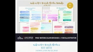 Free watercolor brushes for illustrator  part 3