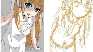 How to draw an anime character 150【アニメ絵の描き方】