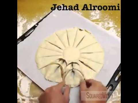 طريقة عمل فطيرة نوتيلا على شكل وردة