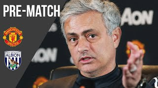 Jose Mourinho | Press Conference | Manchester United v West Brom