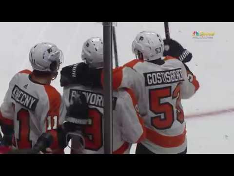 Ivan Provorov Goal - Philadelphia Flyers vs Ottawa Senators 2/24/18