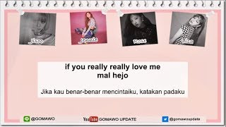 Easy Lyric BLACKPINK - REALLY by GOMAWO [Indo Sub]