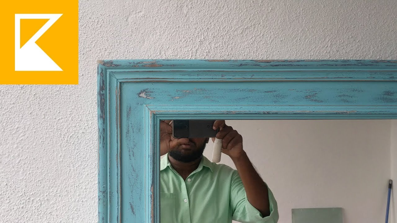 How To   Distress Finish Painted Mirror Good Ideas
