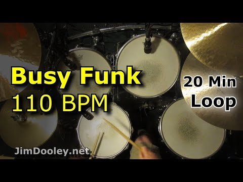20 minute Beat - Busy Funk Beat 110 BPM