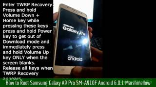 How to root and install TWRP Recovery on Samsung Galaxy A9 Pro SM-A...
