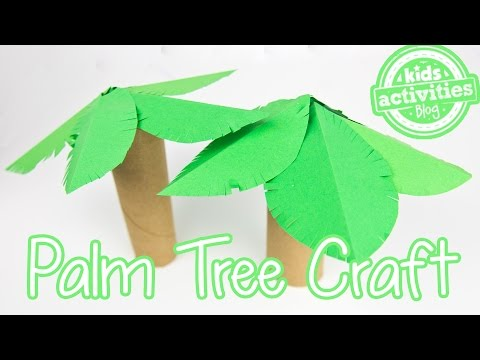Palm Tree Toilet Paper Roll Craft