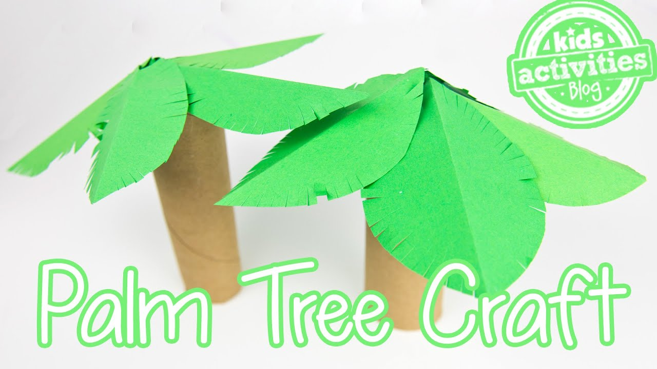 Palm tree toilet paper roll craft youtube palm tree toilet paper roll craft jeuxipadfo Images