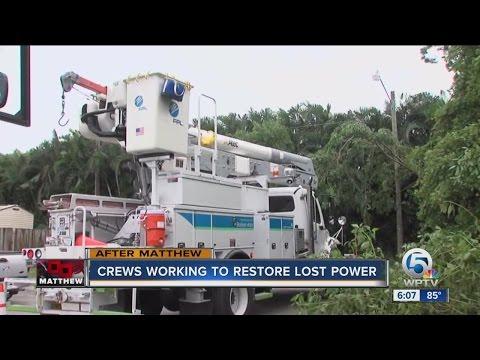 Crews working to restore lost power