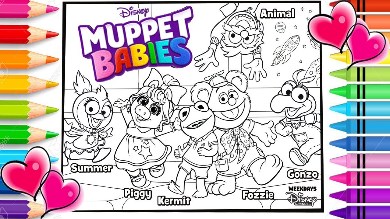 Disney Muppet Babies Coloring Page