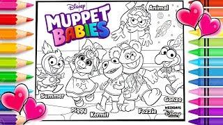 Disney Muppet Babies Coloring Page | Disney Muppet Babies Coloring Book  | Disney Jr.