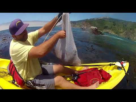 Kayak Fishing Big Sur 2017