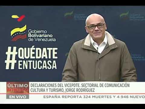 Reporte Coronavirus Venezuela, 21/03/2020: 27 nuevos casos, 70 en total, informa Jorge Rodríguez