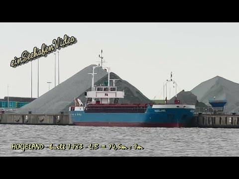 coaster HOGELAND DFWK IMO 8208062 cargo seaship merchant vessel KüMo Seeschiff