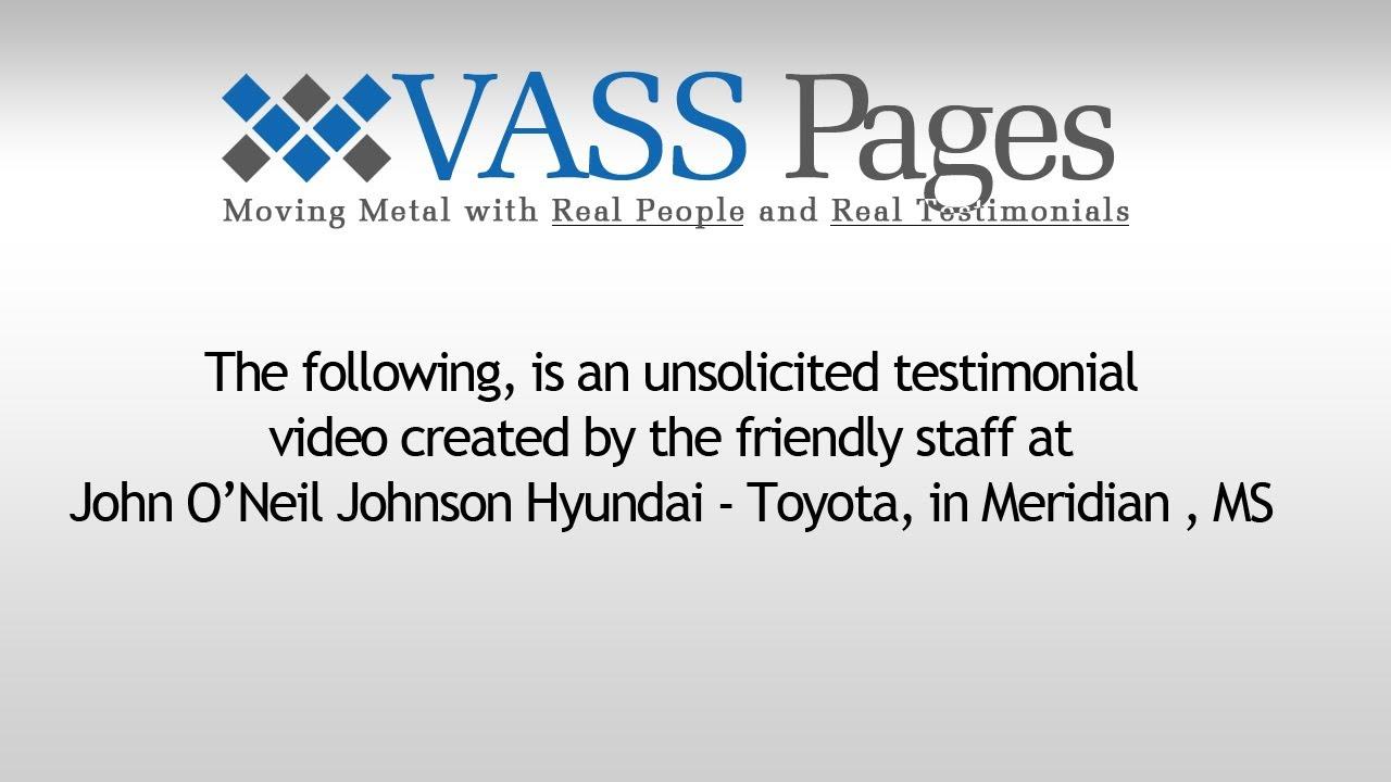 VASS Pages Automotive Testimonial John Ou0027Neil Johnson Hyundai   Toyota
