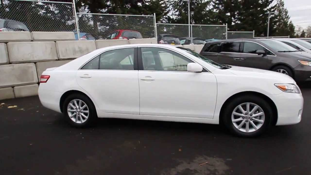 2010 toyota camry xle white ar067191 seattle. Black Bedroom Furniture Sets. Home Design Ideas