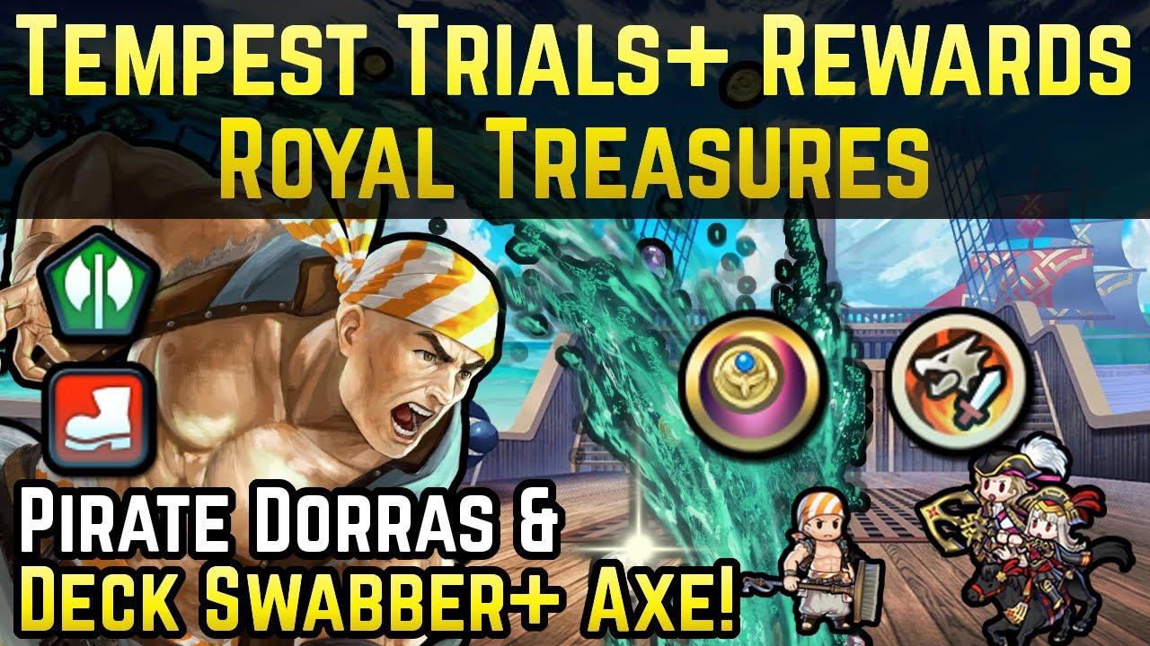 Pirate Darros Review + Phantom Res Sacred Seal! | Tempest Trials+: Royal Treasures Rewards