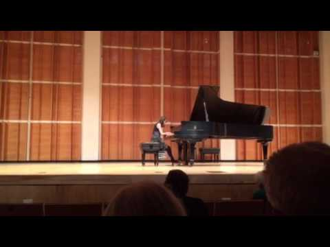 Amelia's performance in the Spanish Composers music festival in Merkin Hall 4/02/17